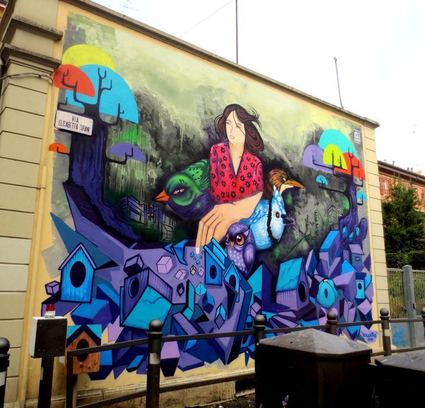 Ronde in bolognina i cittadini presidiano federico berti for Decoration murale ronde
