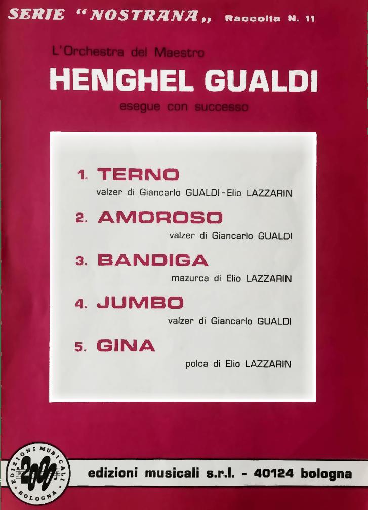 """Spartito originale, Gualdi """"Amoroso """"Valzer"""""""